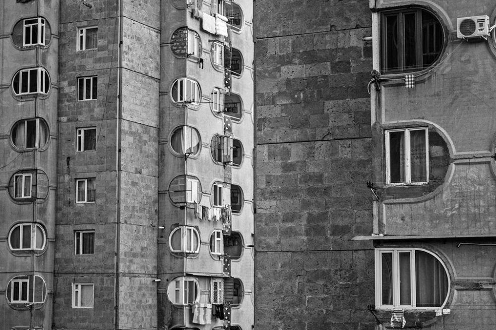 Yerevan, ARMENIA - 2015. Residental building