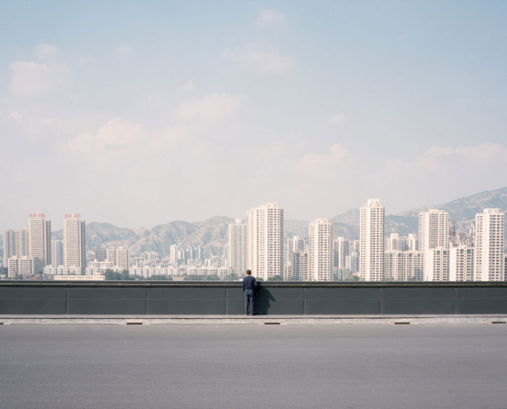 Lanzhou, China - new city district in construction