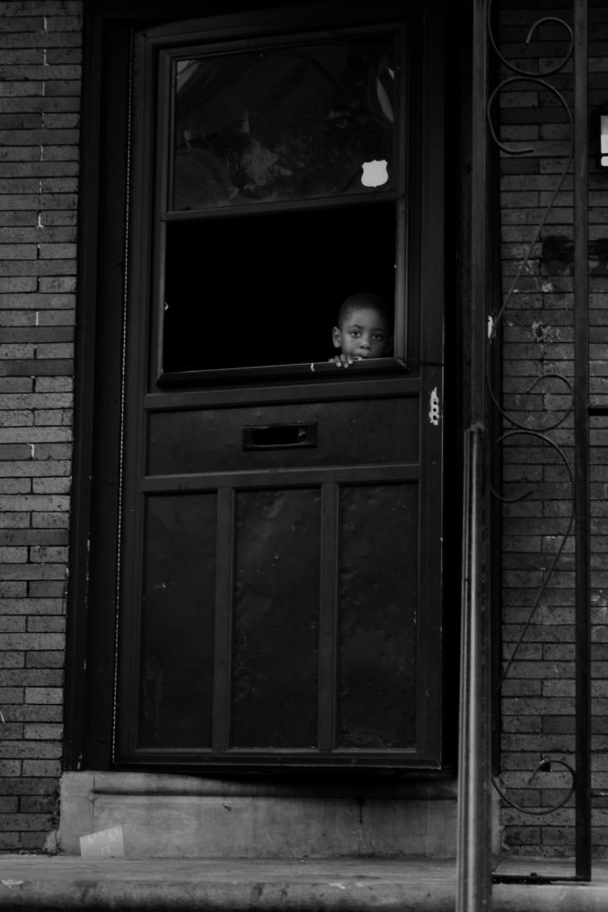 Peeping Out of the Door