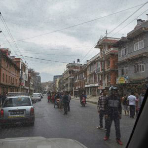 Kathmandu minutes after the first earthquake that happened on 25th April 2015.