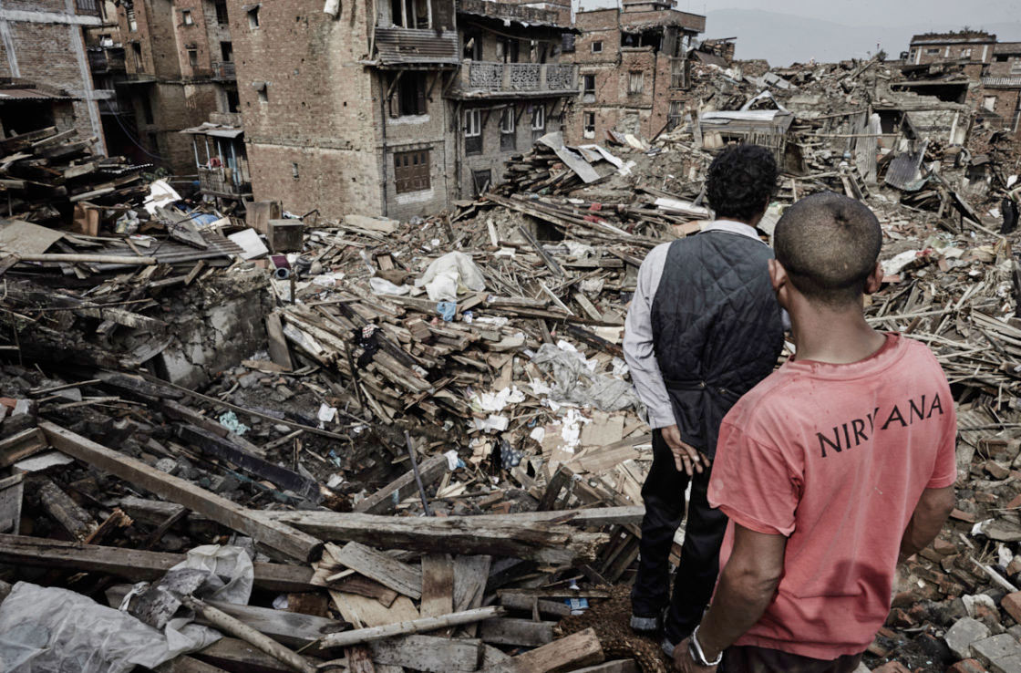 The city of Bhaktapur after the earthquake.