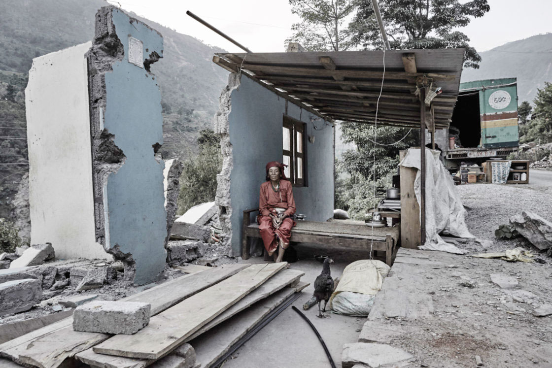 Woman at home in Sindhupalchowk towards the Tibetan border.