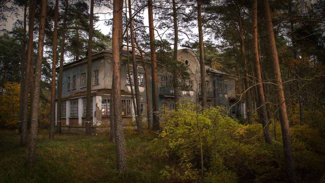 Repino, Russia, October 2016, Abandoned house