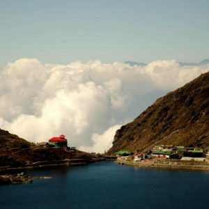Tsomgo Lake,Sikkim, India - November 2016. The ethereally beautiful Tsomgo Lake is situated 38 km from Gangtok and at an altitude of 12,400 ft.